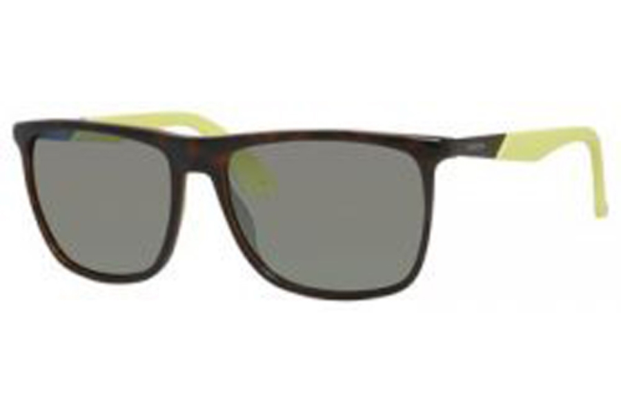 Carrera CARRERA 5018/S Sunglasses in 0MDH Havana Dark Brown (QU Yellow Mirror Lens)