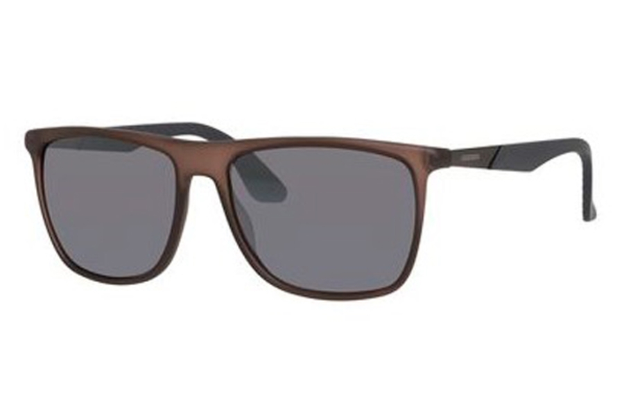 Carrera CARRERA 5018/S Sunglasses in 0MJE Matte Brown Gray (3R gray mirror silver lens)