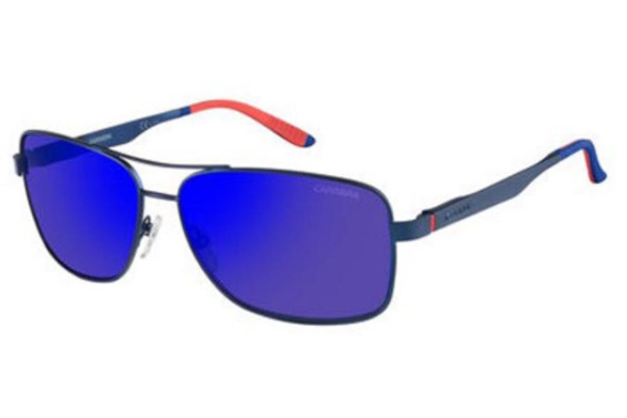 85b49fbcf3 ... Carrera CARRERA 8014 S Sunglasses in 0IDK Matte Blue (XT blue sky miror  lens ...