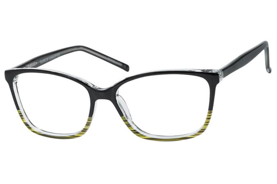 Casino Claire Eyeglasses in Black/Olive