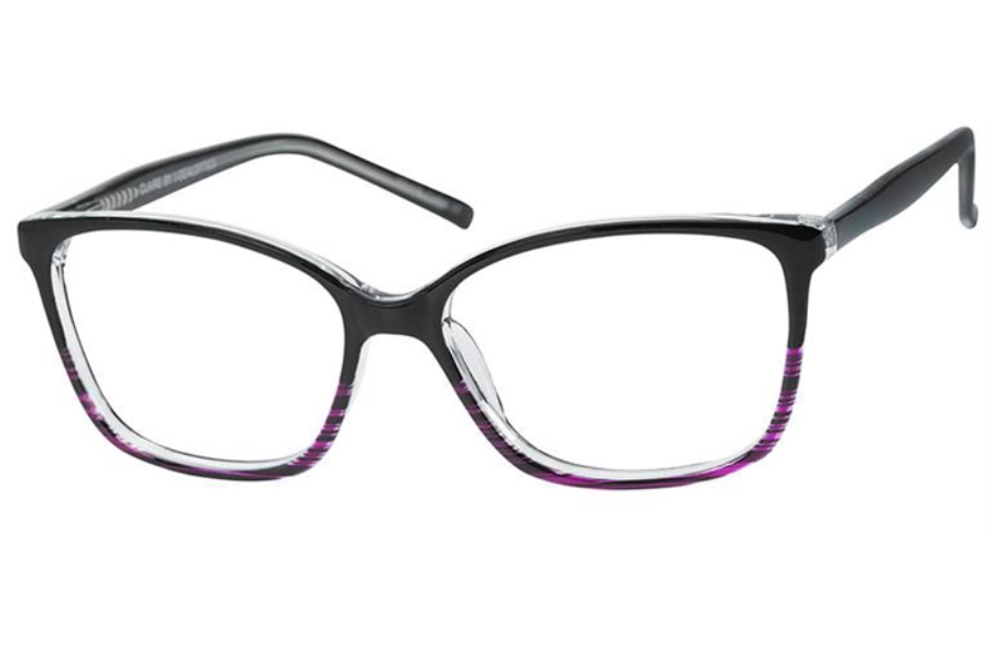 Casino Claire Eyeglasses in Black/Purple