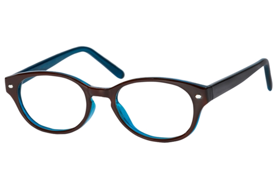 Casino Tracie Eyeglasses in Brown/Blue