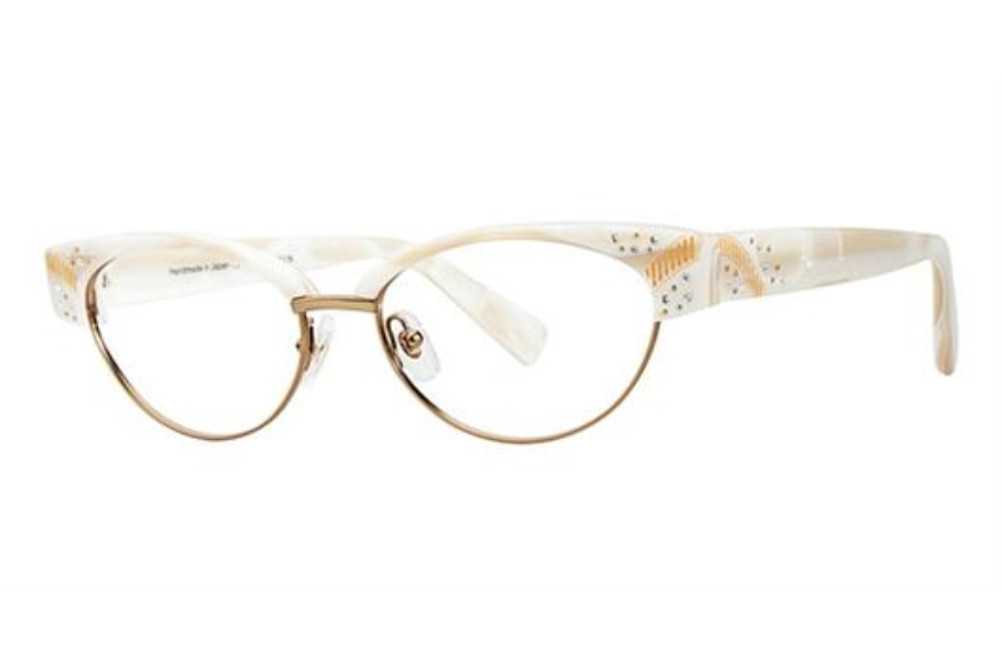 Seraphin by OGI CAVELL Eyeglasses in 8594 - CREAMY WHITE PEARL/SATIN GOLD