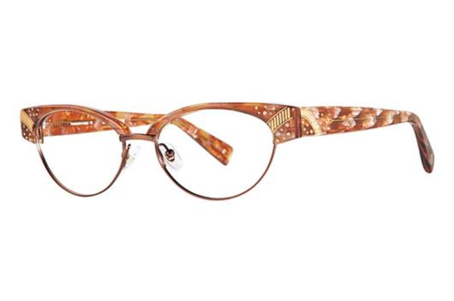 Seraphin by OGI CAVELL Eyeglasses in 8653 - BROWN PEARL DEMI/SATIN BROWN