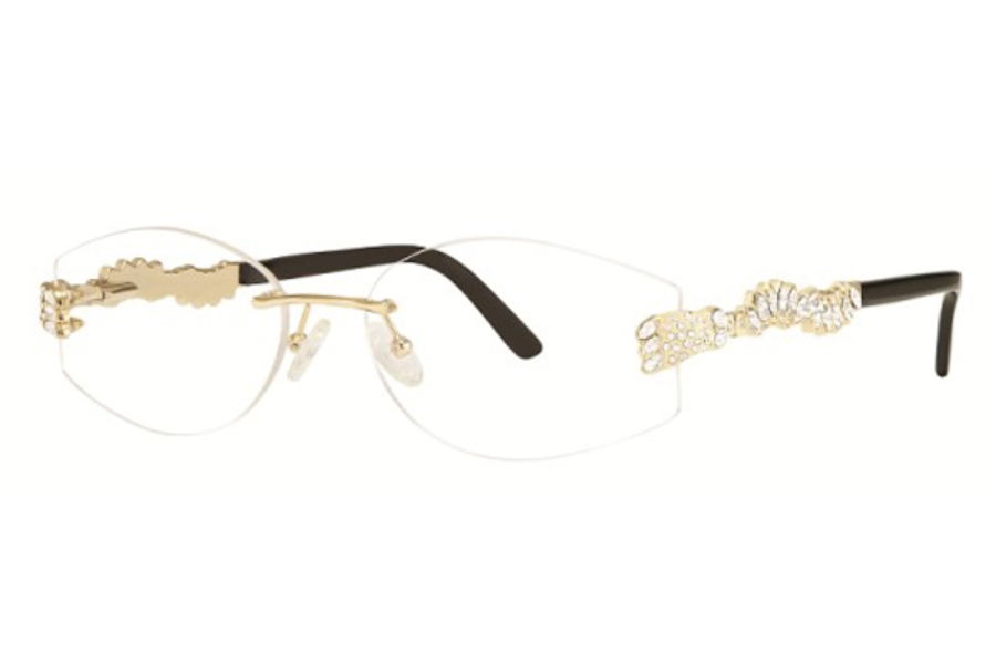 Caviar Caviar 2354 Eyeglasses in 21 Gold w/ Clear Crystals