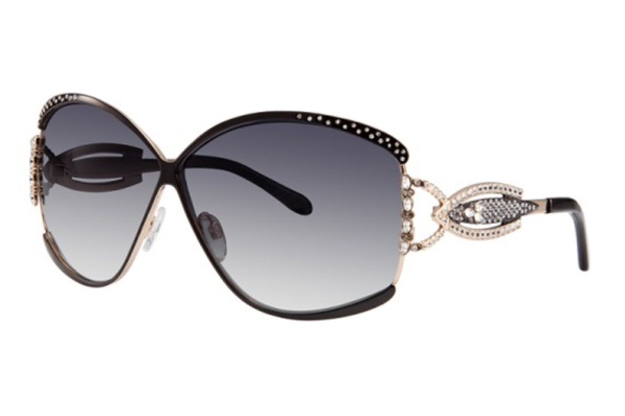 Caviar Caviar 5627 Sunglasses in 21 Gold / Brown Clear Crystal