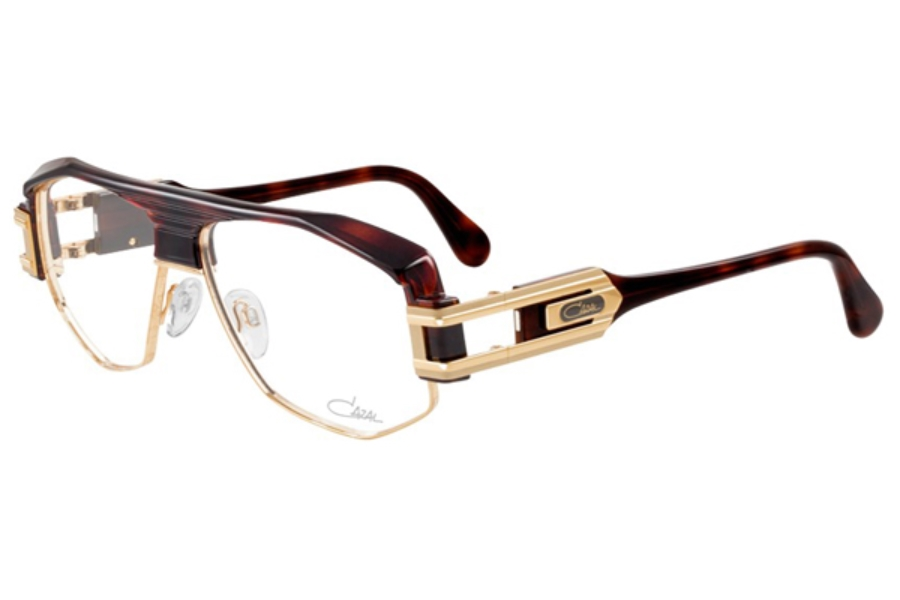 Cazal Legends 671 Eyeglasses in 080 Dark Brown Amber