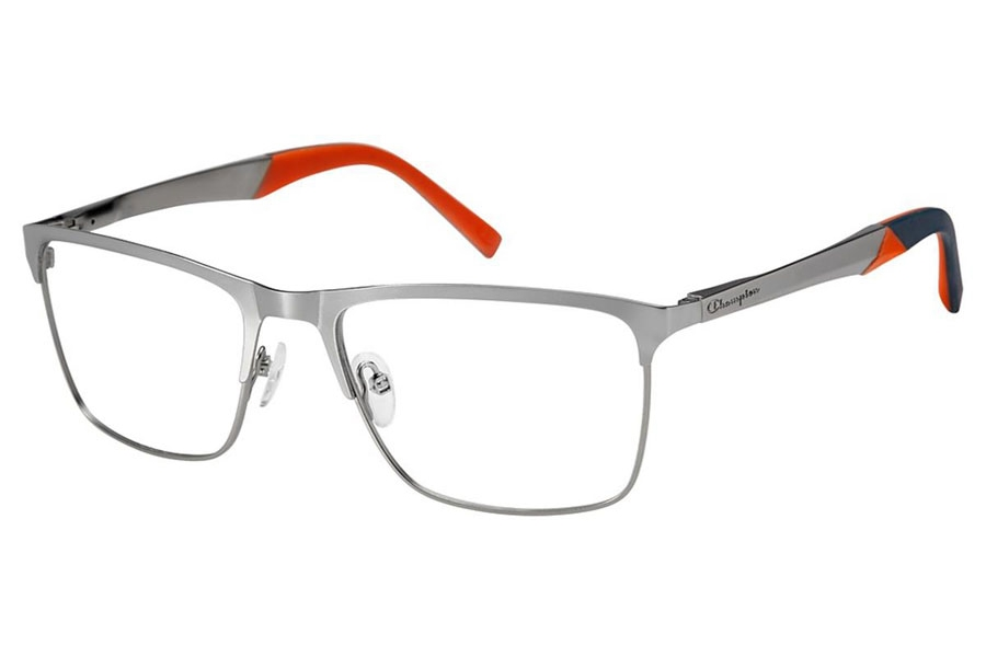 Champion FL1002 Eyeglasses in C02 Gun/Orange