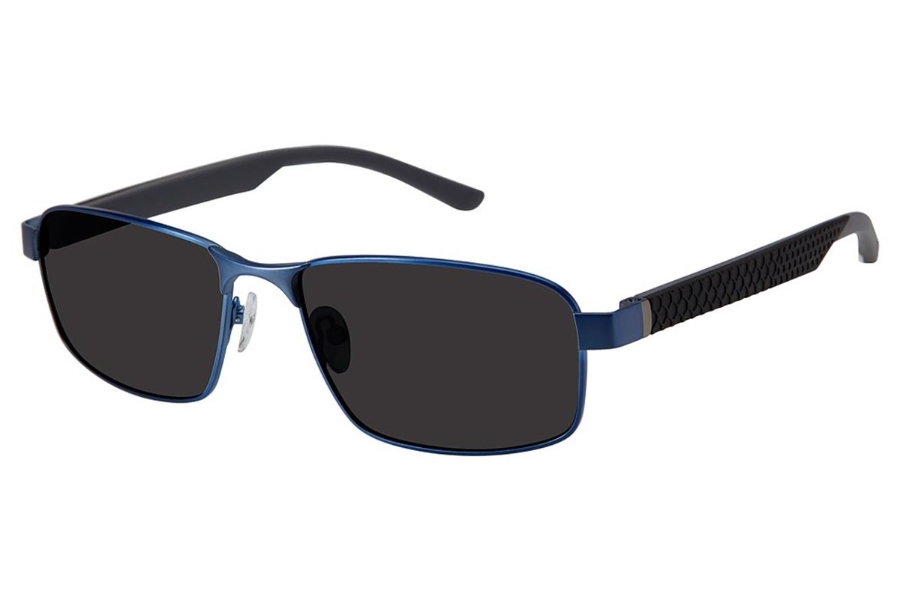 Champion FL6003 Sunglasses in C02 Matte Navy/Blk - Polarized
