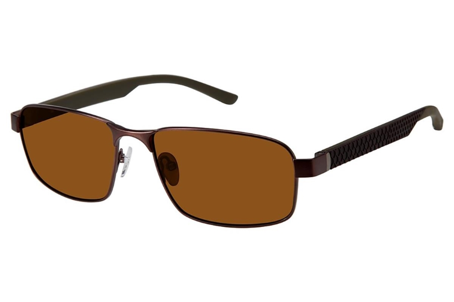 Champion FL6003 Sunglasses in C03 Dark Brown - Polarized