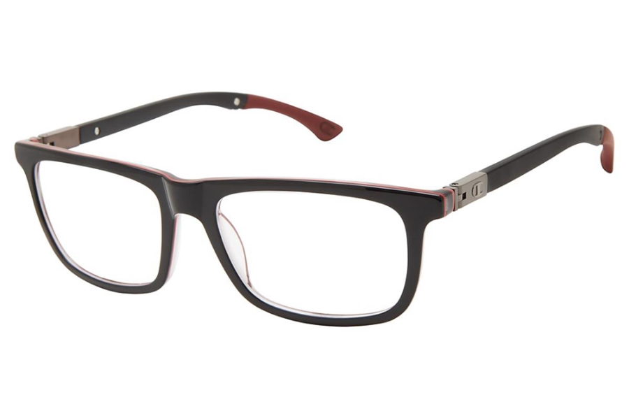 Champion Goodluck Eyeglasses in C01 Black/Red