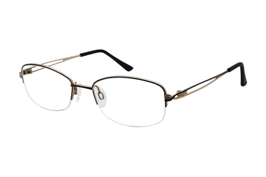 Charmant Titanium TI 29202 Eyeglasses in Black