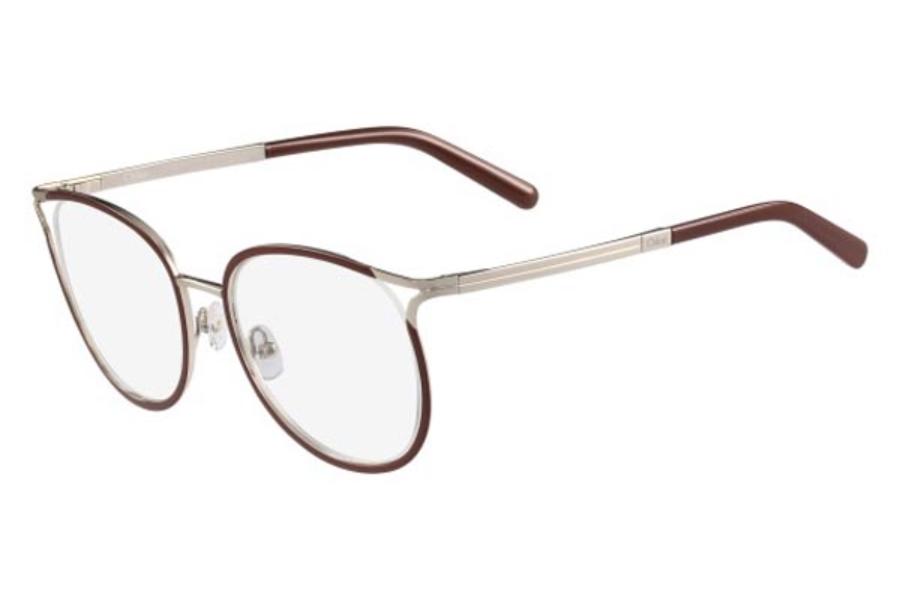 ee7a8771fc32 Chloe CE2126 Eyeglasses in 722 Gold Light Brown ...
