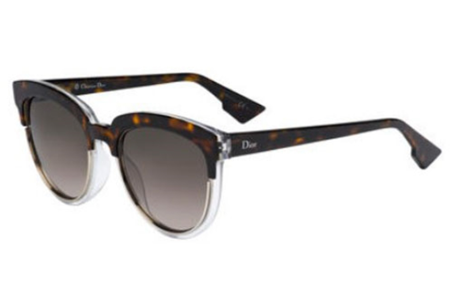 Christian Dior Diorsight-1 Sunglasses in 0REL Havana Crystal (HA brown gradient lens)