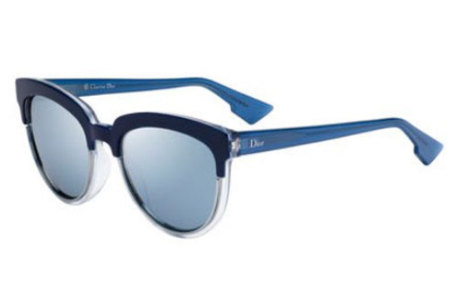 Christian Dior Diorsight-1 Sunglasses in 0REN Blue Crystal (T7 blue mirror lens)