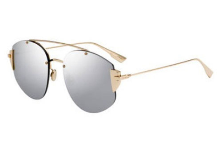 Christian Dior Diorstronger Sunglasses in 0000 Rose Gold (DC sup silver mirror lens)
