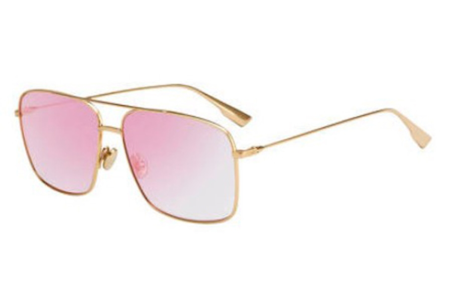 Christian Dior Stellaireo-3S Sunglasses in 0000 Rose Gold (TE mullayer violet lens)