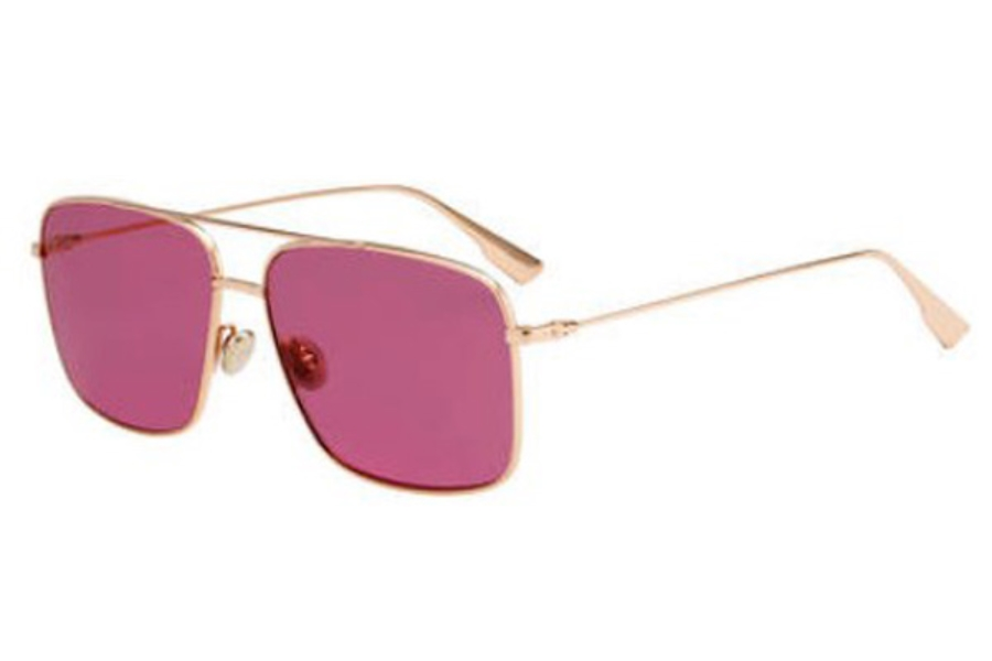 Christian Dior Stellaireo-3S Sunglasses in 0DDB Gold Copper (U1 red lens)