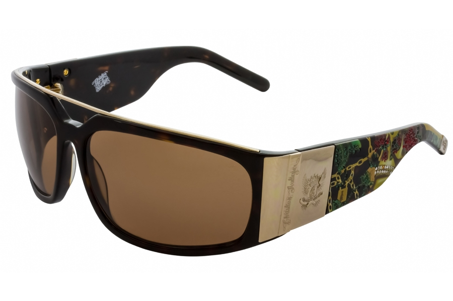 Christian Audigier CAS407 ROSE SKULL Sunglasses in Christian Audigier CAS407 ROSE SKULL Sunglasses