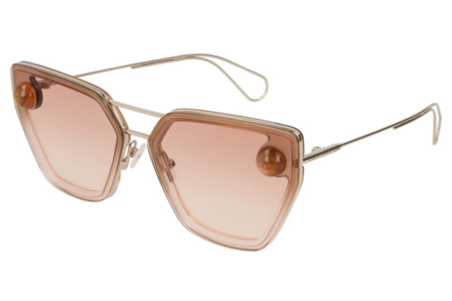 Christopher Kane CK0023S Sunglasses in 002 Gold / Orange