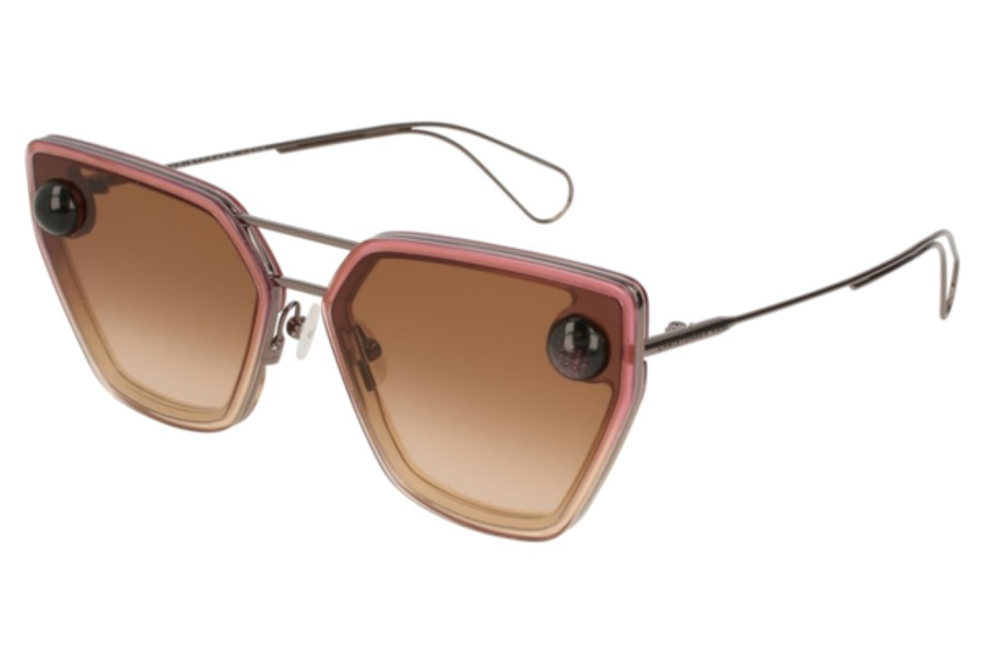 Christopher Kane CK0023S Sunglasses in 003 Ruthenium / Brown