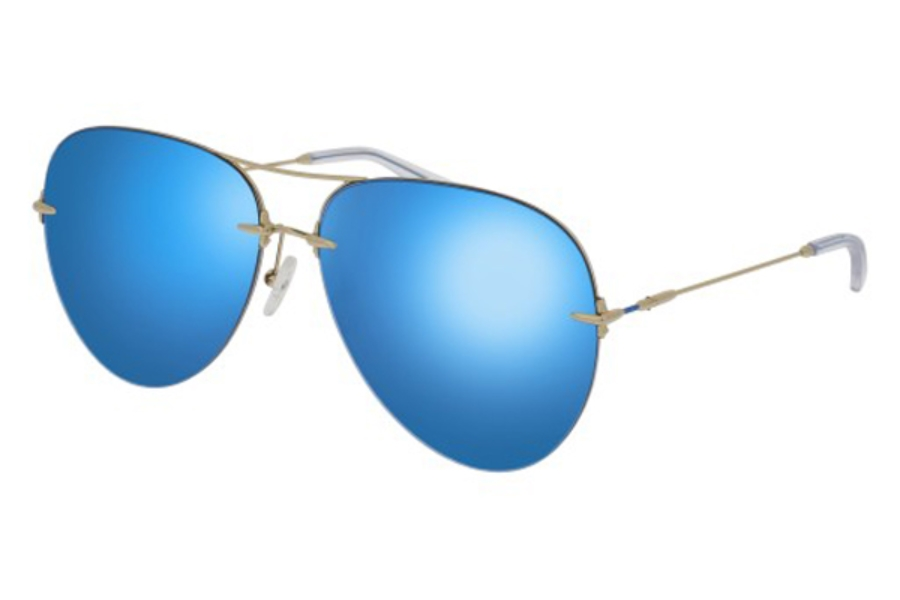 Christopher Kane CK0010S Sunglasses in 005 Gold / Blue