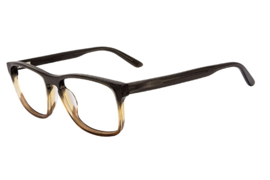 Club Level Designs cld9222 Eyeglasses in C-2 Smoke/Honey