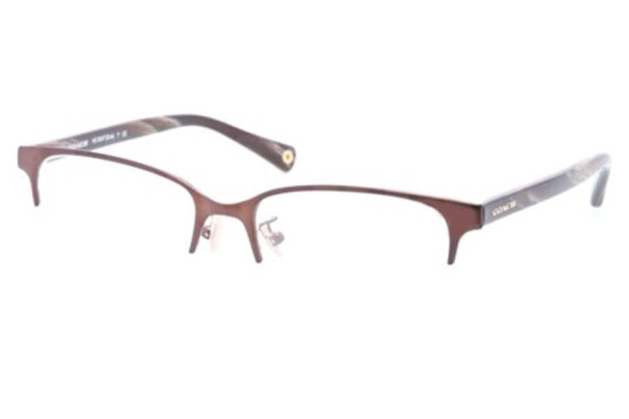Coach HC5047 Eyeglasses in 9163 Satin Brown/Dark Brown Horn (50 Eyesize Only)