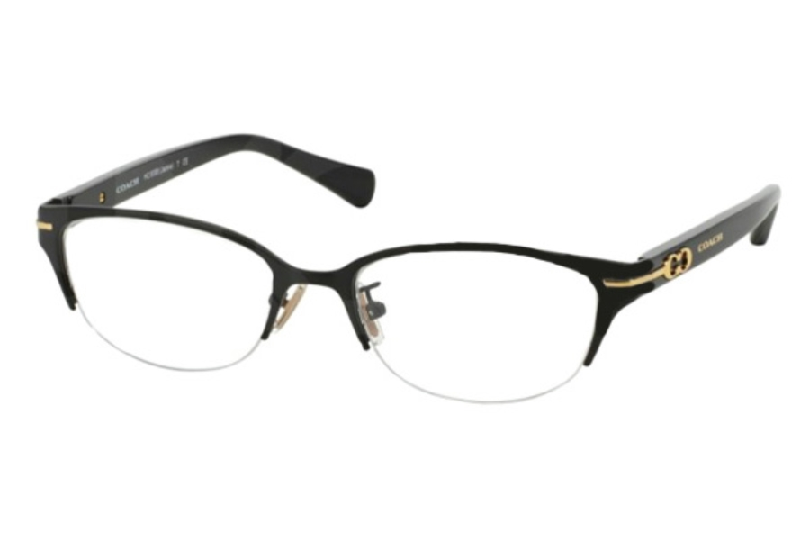 Coach HC5058 Eyeglasses in 9192 Satin Black/Black (Discontinued)