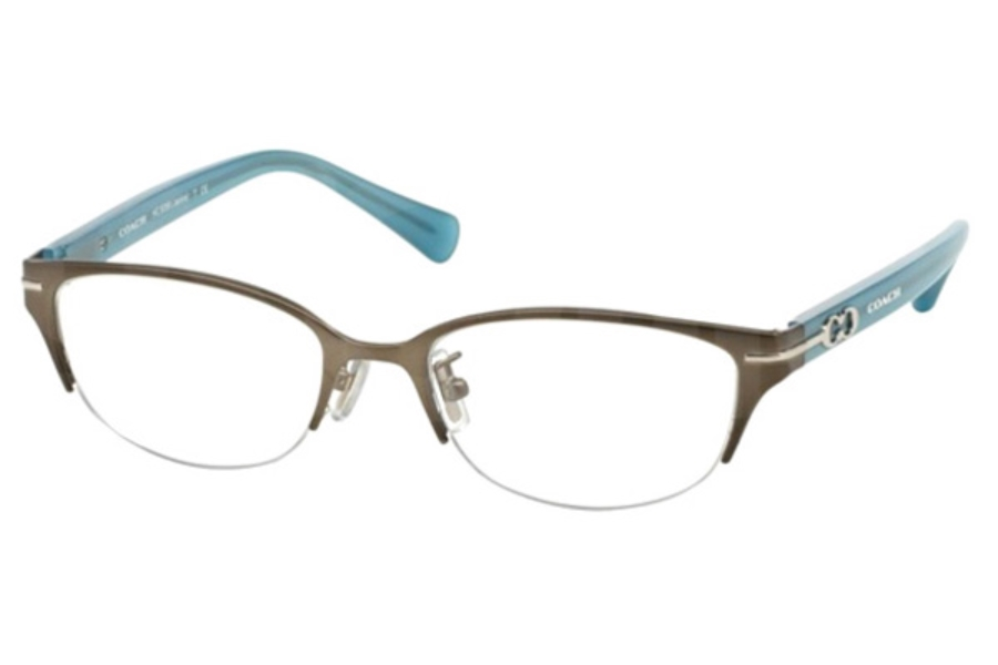 Coach HC5058 Eyeglasses in 9194 Satin Dk Silver/Milky Chambray (Discontinued)