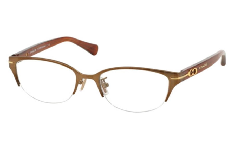 Coach HC5058 Eyeglasses in 9195 Sand/Milky Saddle (Discontinued)