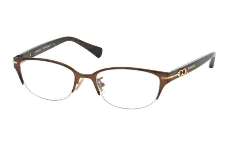 Coach HC5058 Eyeglasses in 9199 Satin Dark Brown/Dark Tortoise