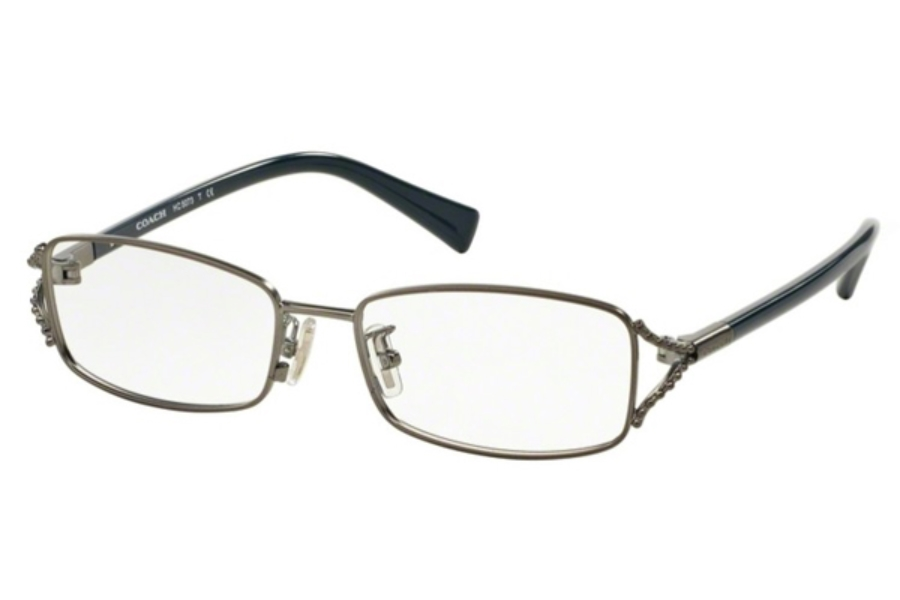 Coach HC5073 Eyeglasses in 9247 Satin Dark Silver/Teal (Discontinued)