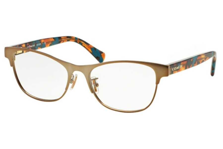 Coach HC5074 Eyeglasses in 9242 Satin Sand/ Confetti Teal (Discontinued)