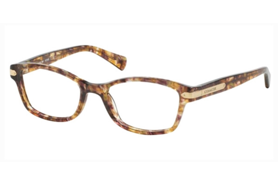 Coach HC6065 Eyeglasses in 5287 Confetti Light Brown