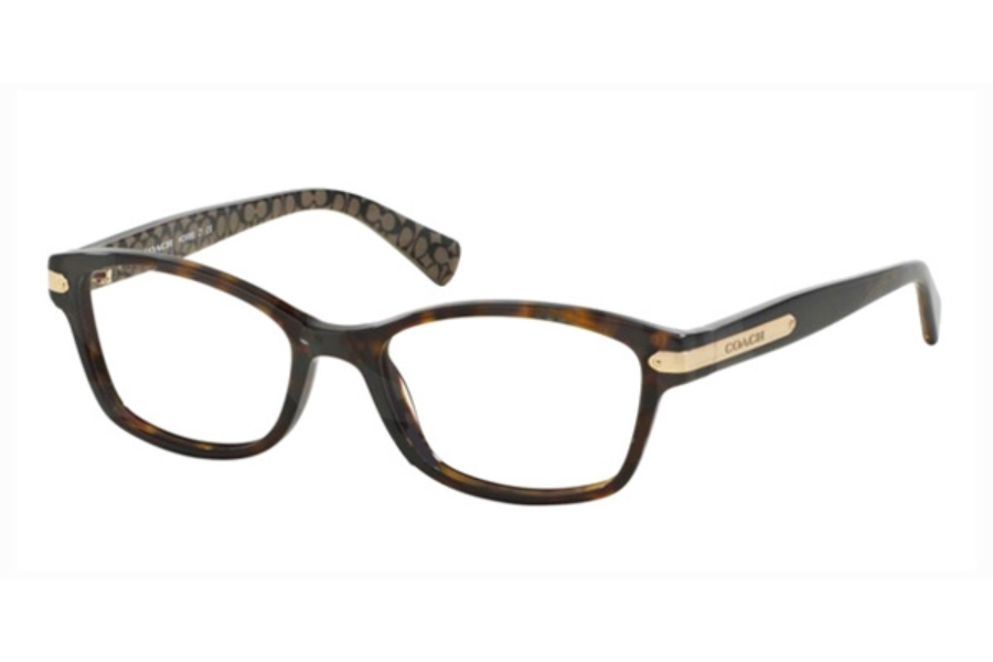 Coach HC6065 Eyeglasses in 5291 Dk Tort/Dk Tort Military Sig C (51 Eyesize Only)