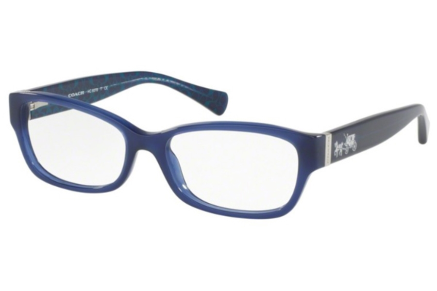 Coach HC6078 Eyeglasses in 5397 Milky Navy/Milky Navy Sig C (Discontinued)