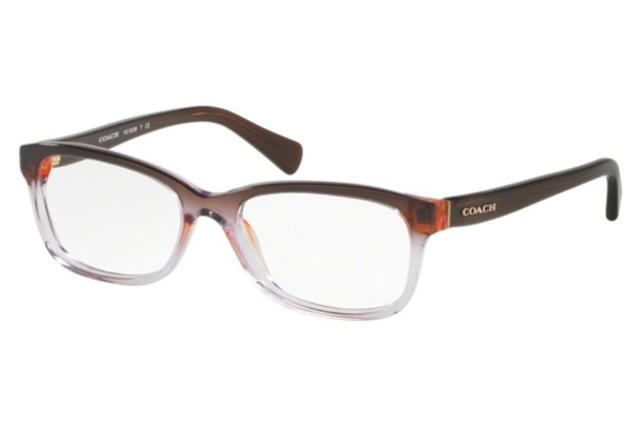 Coach HC6089 Eyeglasses in 5401 Purple Brown Gradient/Brown (51 Eyesize Only) (Discontinued)