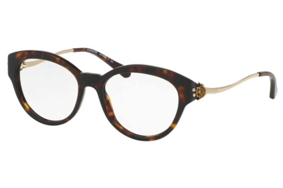 Coach HC6093 Eyeglasses in 5417 Dark Tortoise/Light Gold