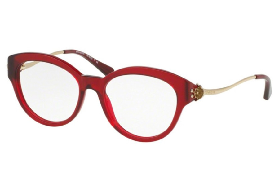 Coach HC6093 Eyeglasses in 5419 Burgundy/Light Gold