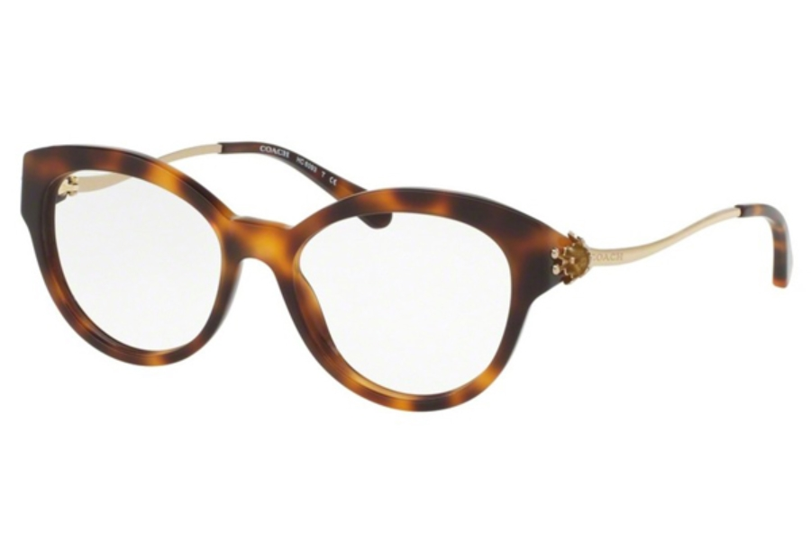 Coach HC6093 Eyeglasses in 5434 Tortoise/Light Gold