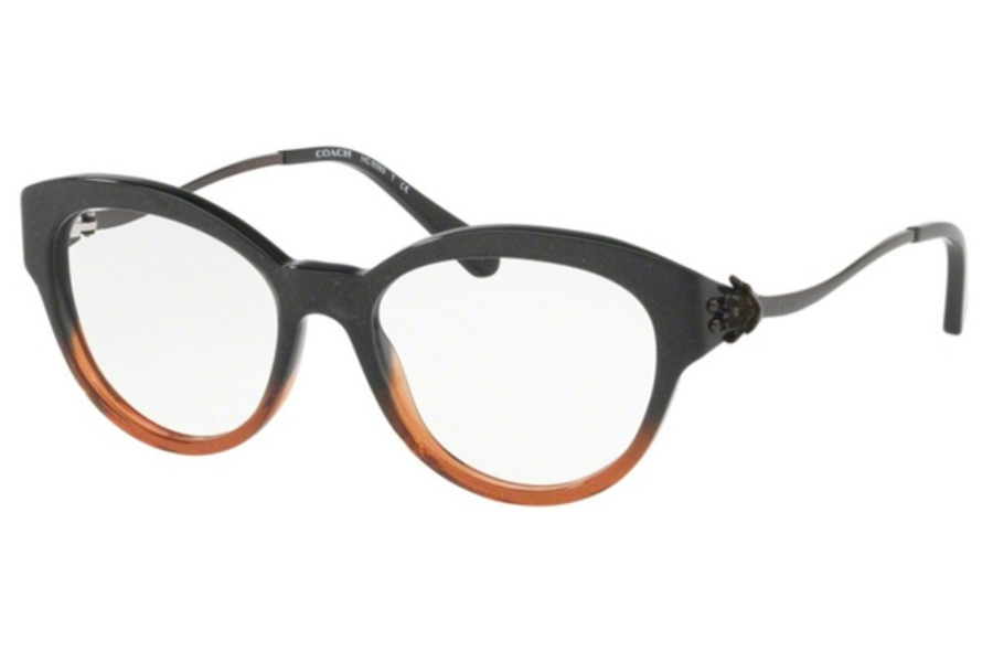 Coach HC6093 Eyeglasses in 5490 Black Amber Glitter Gradient (52 Eyesize only)