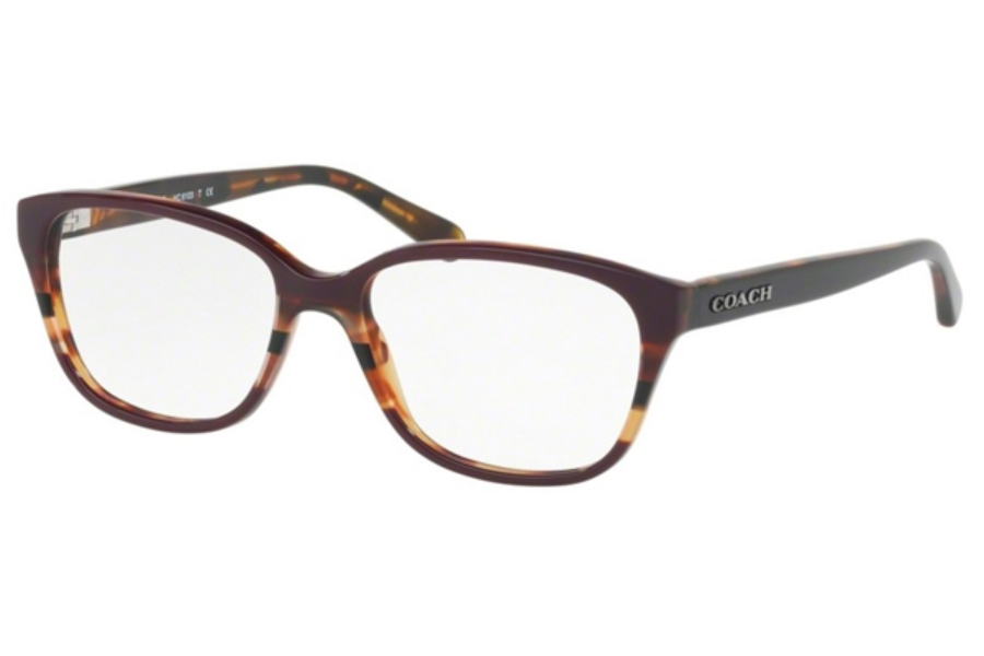Coach HC6103 Eyeglasses in 5478 Oxblood Tort Varsity Stripe (Discontinued)