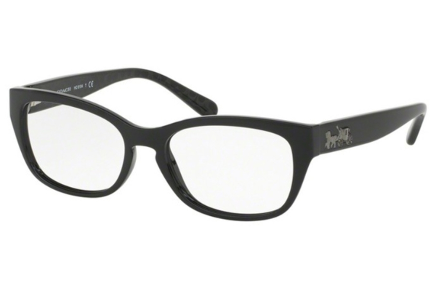 Coach HC6104F Eyeglasses in 5420 Black/Black Gunmetal Sig C