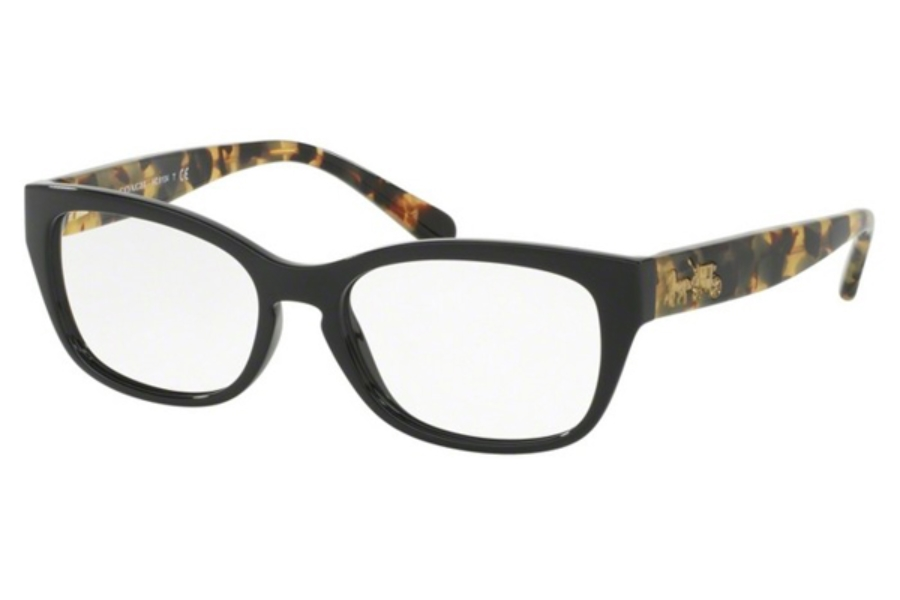 Coach HC6104F Eyeglasses in 5449 Black/Dark Vintage Tortoise