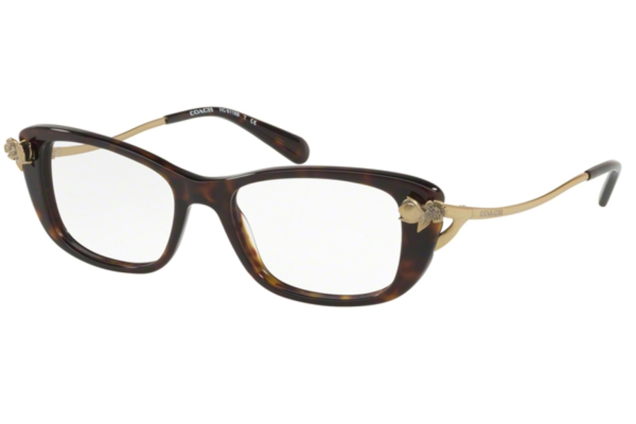 Coach HC6118BF Eyeglasses in 5485 Dark Tortoise