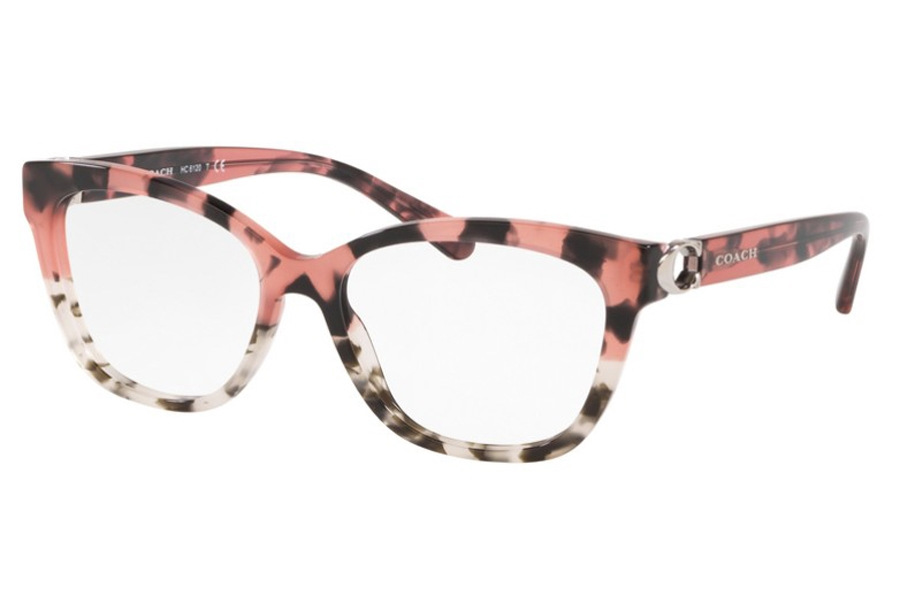 Coach HC6120 Eyeglasses in 5560 Pink Tort On Bottom / Gray Tor