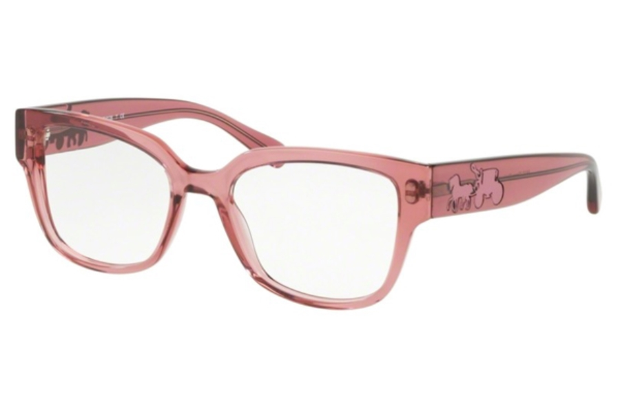 Coach HC6126F Eyeglasses in 5527 Trans Pink