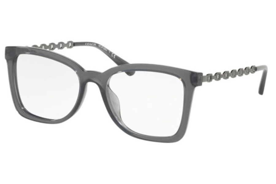 Coach HC6128U Eyeglasses in 5537 Transparent Gray