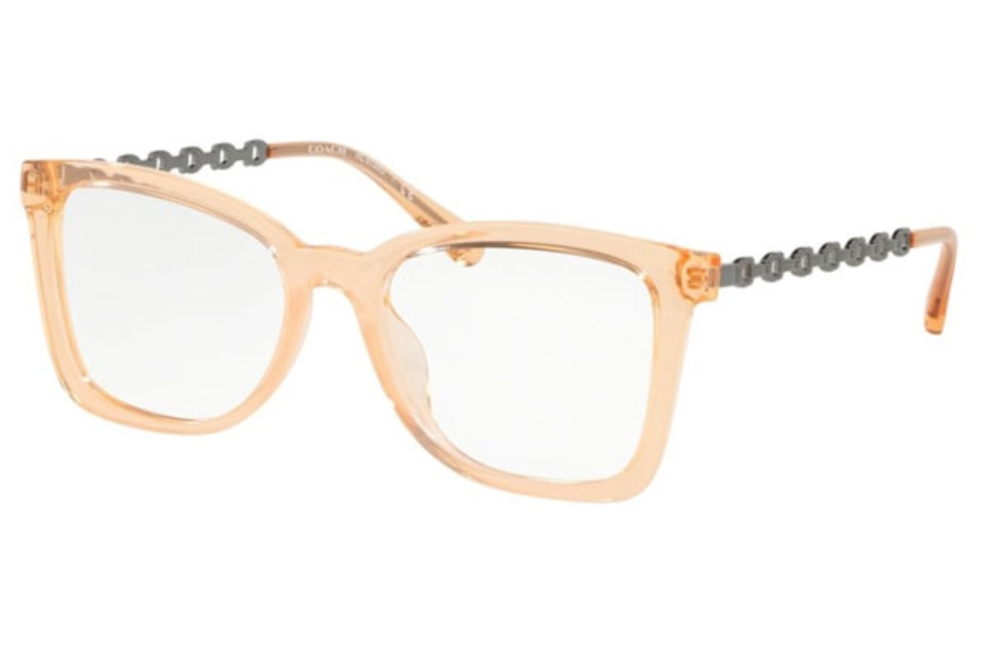 Coach HC6128U Eyeglasses in 5563 Transparent Peach